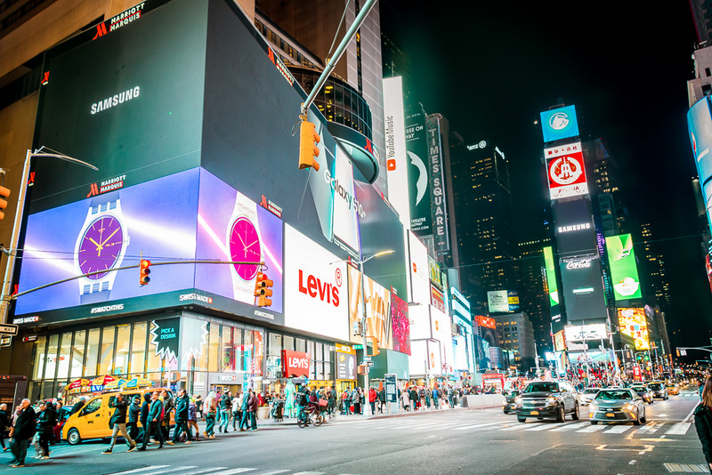 Time Square, bei nacht, New York