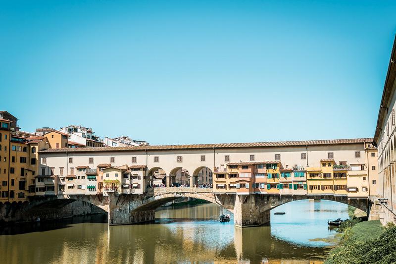 Ponte Vecchio, Bogenbrücke, Brücke, Florenz, Toskana, Italien
