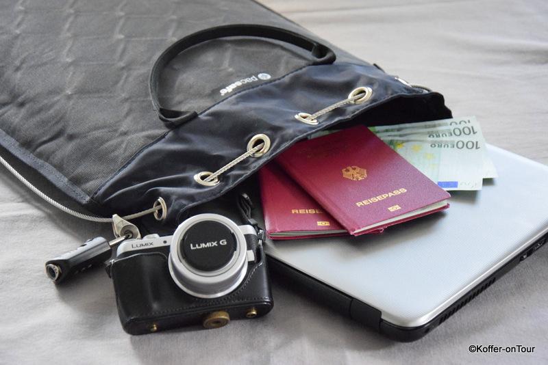 Pacsafe, Diebstahlsicherung, Wertsachen, Sicherung