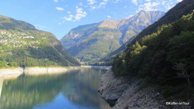 Staumauer, Verzasca Tal, Tessin, Schweiz