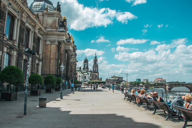 Brühlsche Terrasse, Dresden, Sehenswürdigkeit, Barock,Deutschland, Urlaub, Reisen