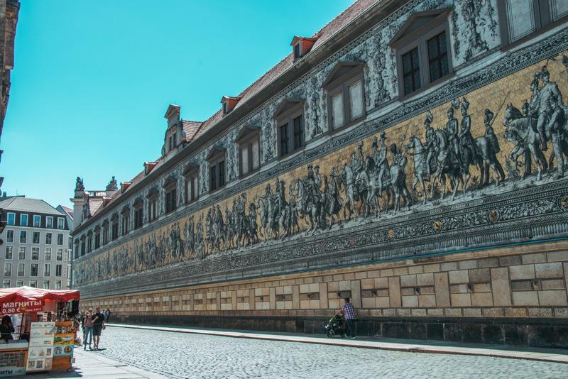 Fürstenzug, Dresden, Mosaik,