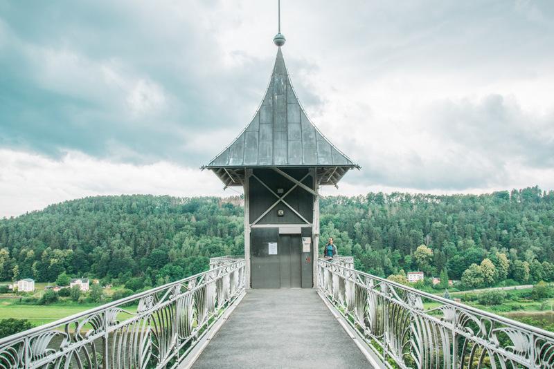 Panorama Aufzug, Bad Schandau, Sächsische Schweiz, Elbsandsteingebirge