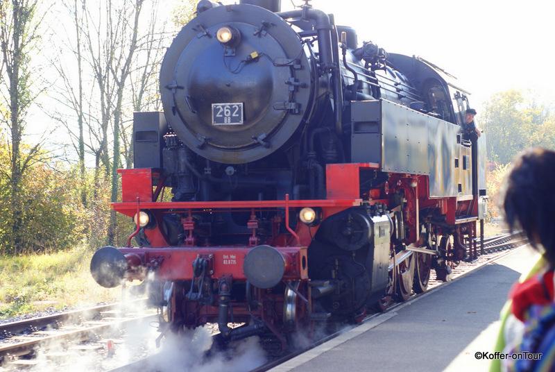 Die Dampflokomotive FK 262 der Wutachtalbahn