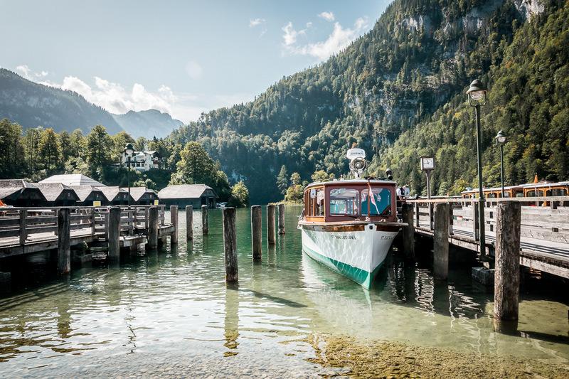 Anlegestelle der Schiffe am Königssee, Bayern, Berchtesgaden, Berchtesgadener Land, Ausflug, Schönau