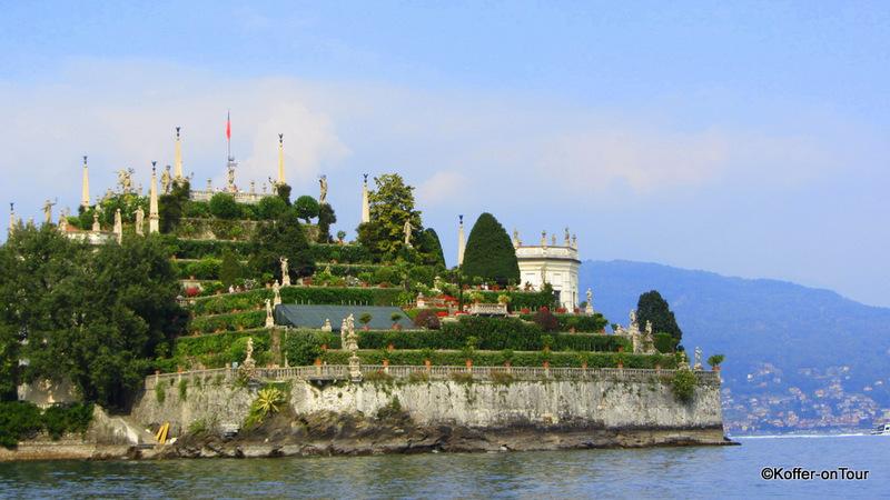 Garten der Isola Bella, Lago Maggiore, Borromäische Insel, Inseln