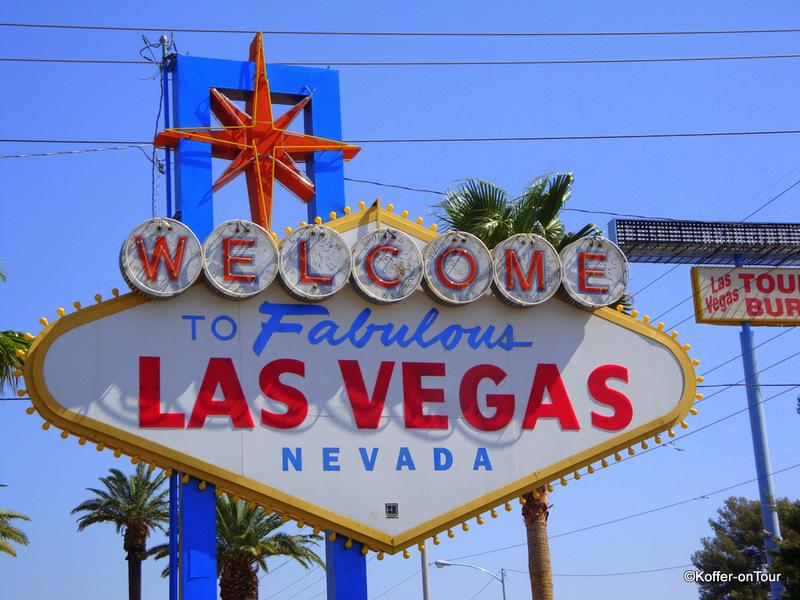 Begrüssungsschild, Las Vegas, Nevada, USA