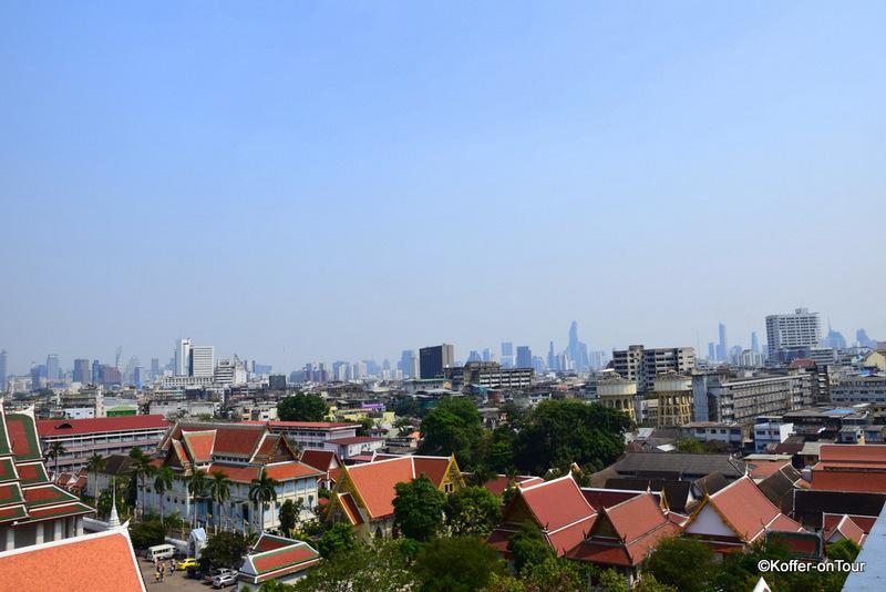 Ausblick vom Golden Mount Tempel über Bangkok