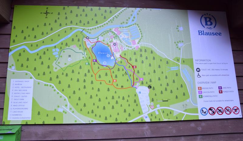 Übersichtskarte, Blausee, Naturpark, Schweiz