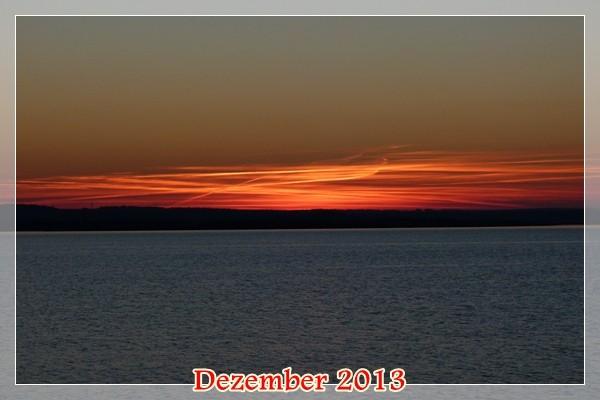 """Feuriger Abschied des alten Jahres! - eben ein """"Flaming Sunset"""""""