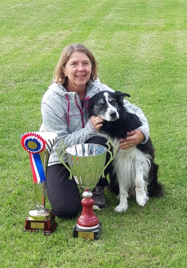 Nicole, Championne Régionale 2018 avec Grim 283 pts