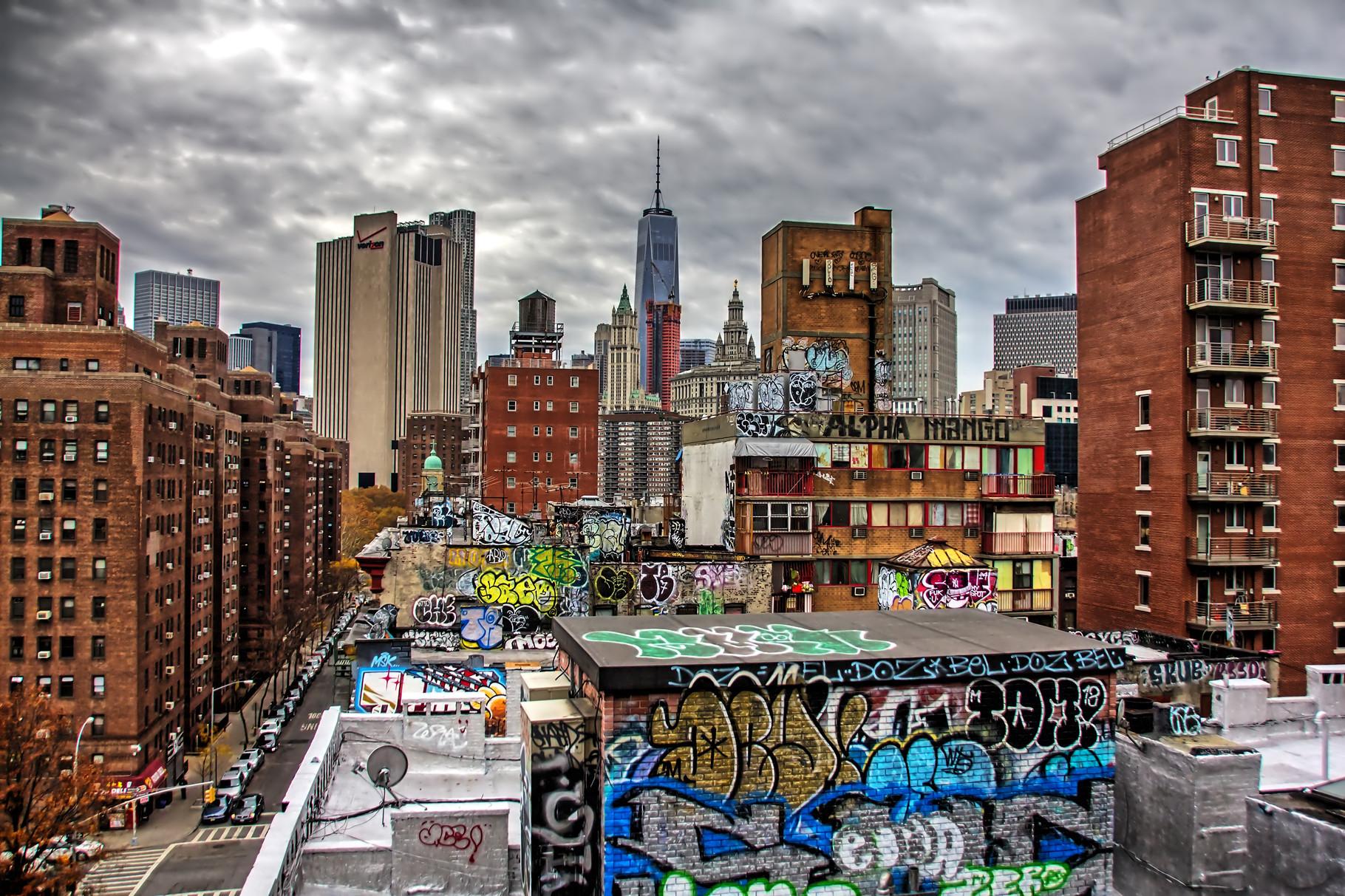 44_ NYC Blick von Manhatten Bridge.