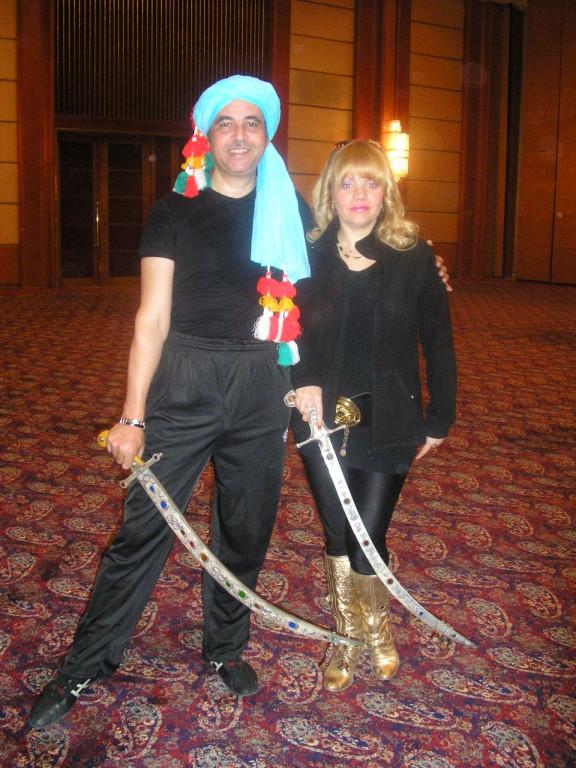 Con il Maestro della spada Alla El Din Youssef