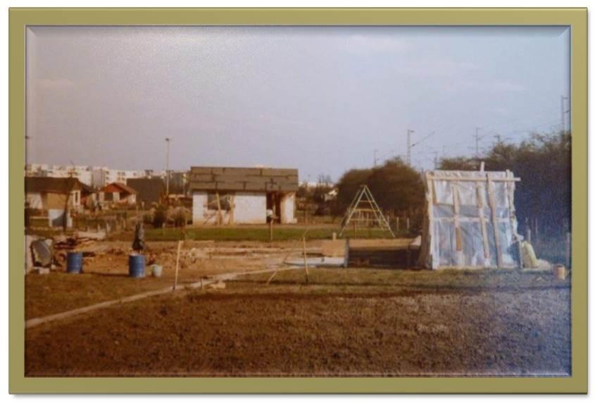 Die Baustelle des Kleingartens März 1975