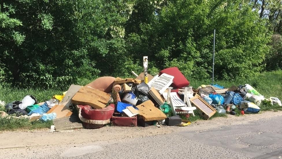 Müllentsorgung in Kleingartengebieten