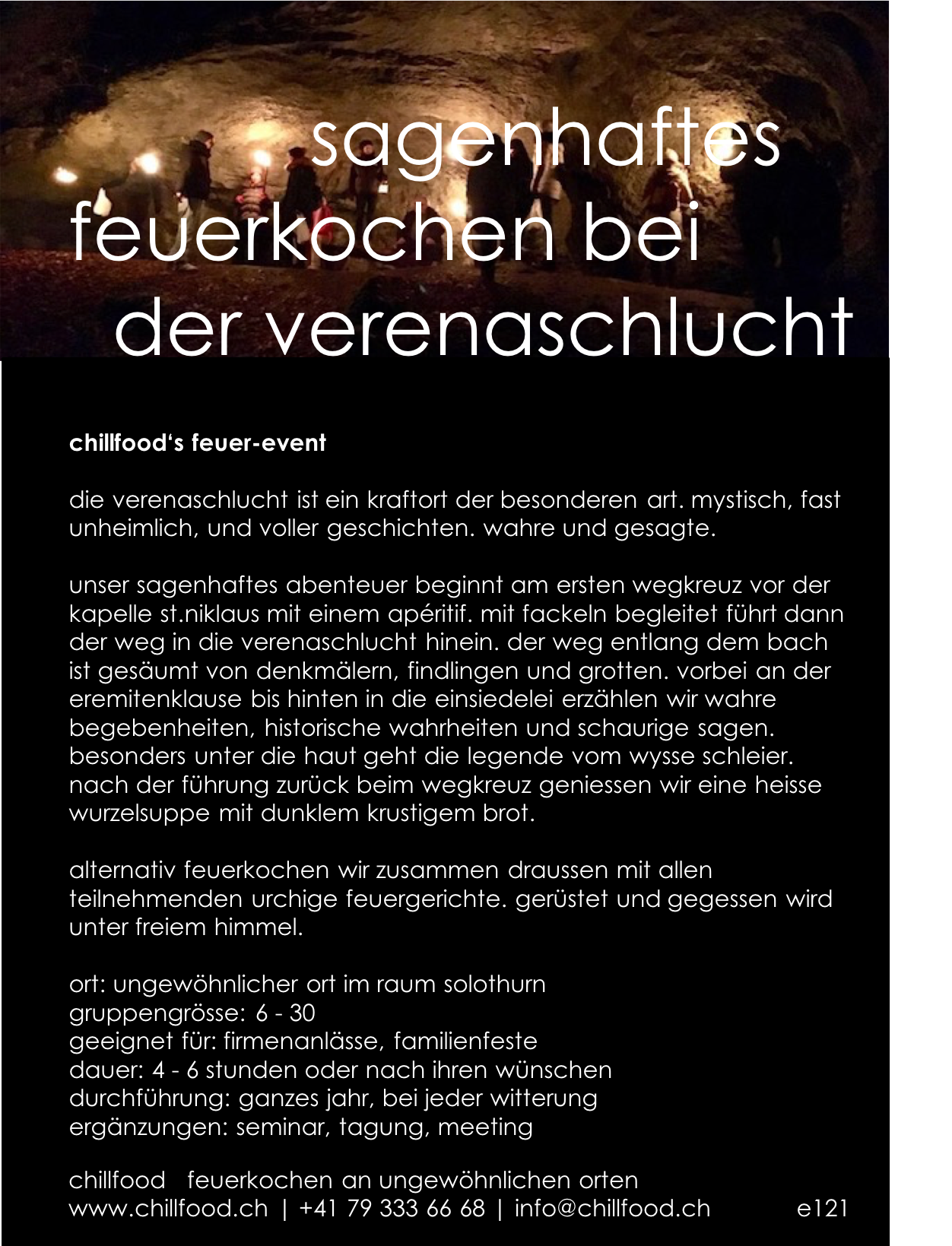 verenaschlucht - food events, catering, feuerkochen, grillkurse ...