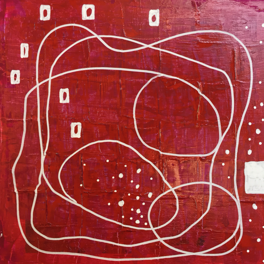 red track, 20x20cm, acryl on canvas