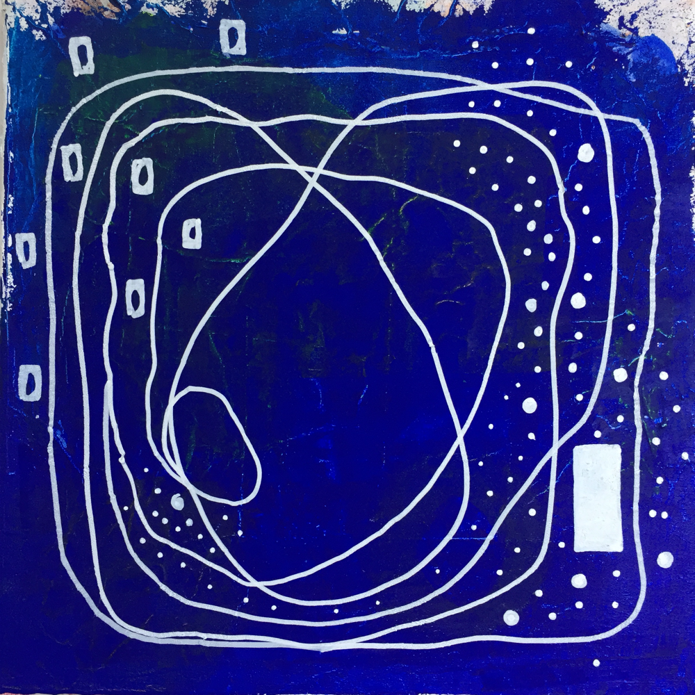 blue track, 30x30cm, acryl on canvas