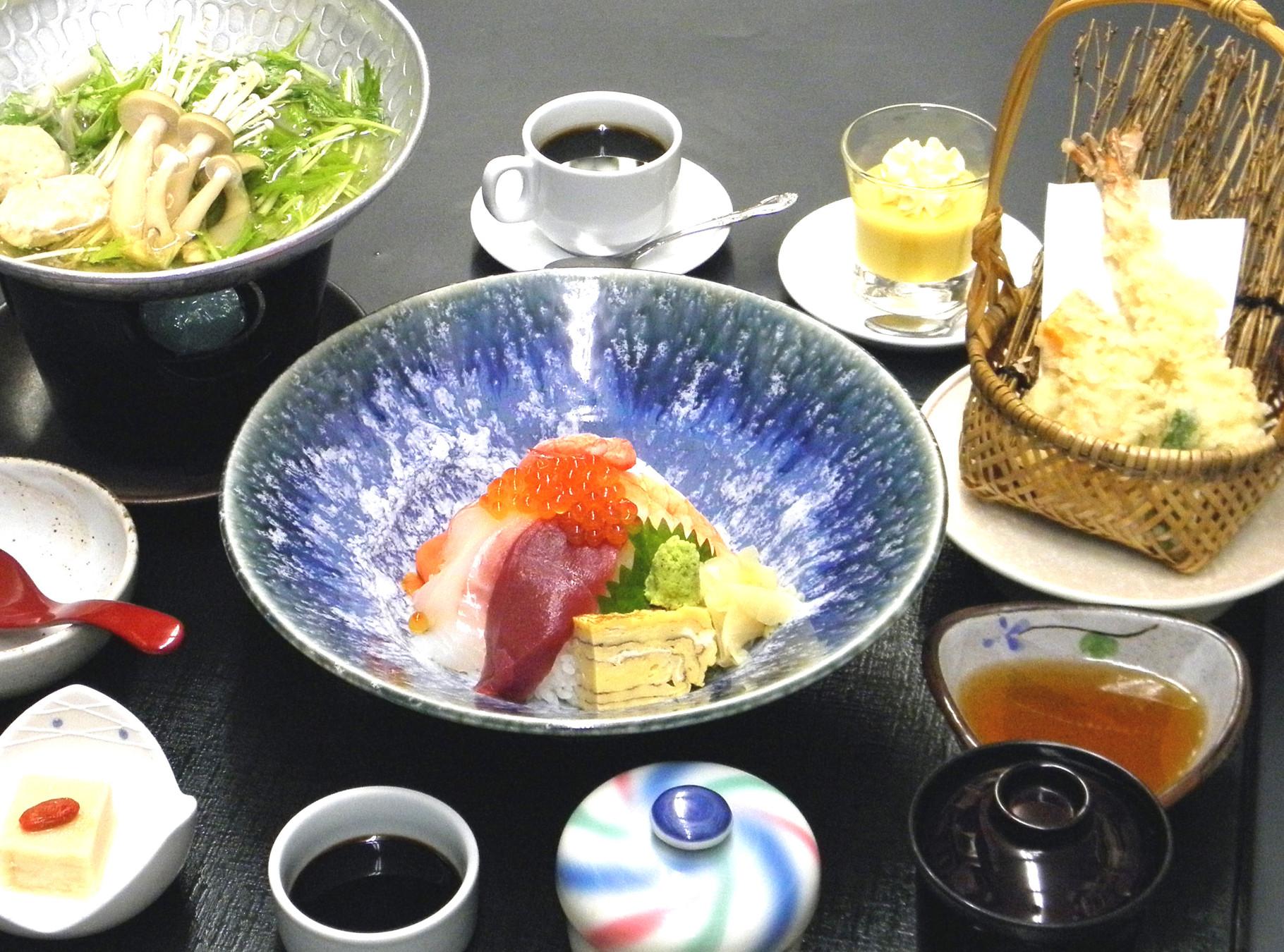 海鮮ちらし寿司御膳 1,600円(税込)