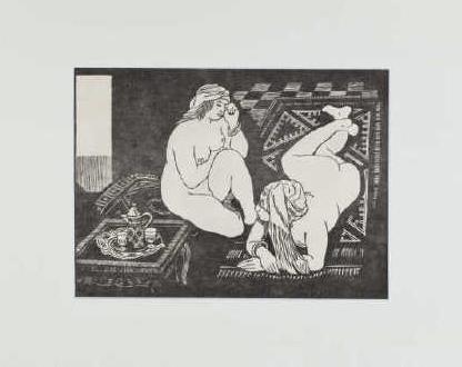 Migonney, Deux mauresques, 19x26.