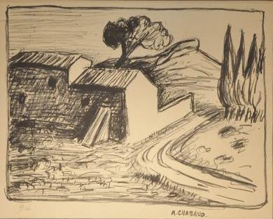 Chabaud, le mas, 130 ex, tirage posthume.