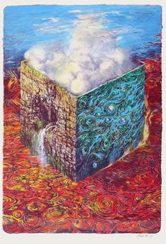 1989.  L'eau, 28 exemplaires, feuille de 90 x 63.