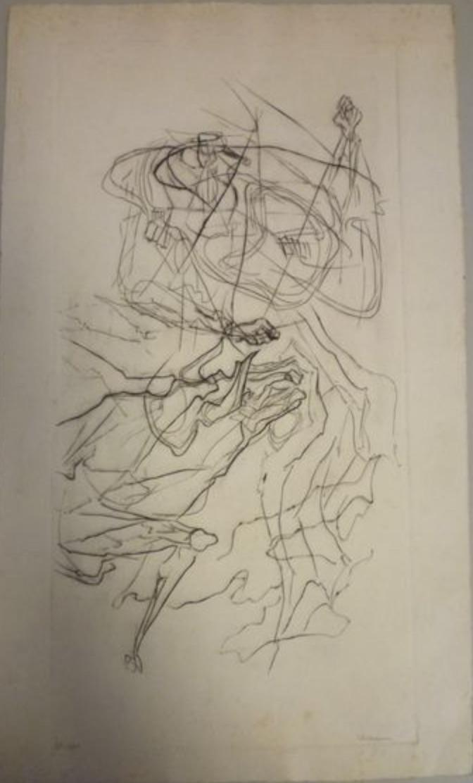 Varbanesco, composition au cheval, 2ème état, 45 x 22,5.