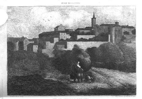 Vollon, Vue de Chazay d'Azergues, 1858 (Revue du Lyonnais)