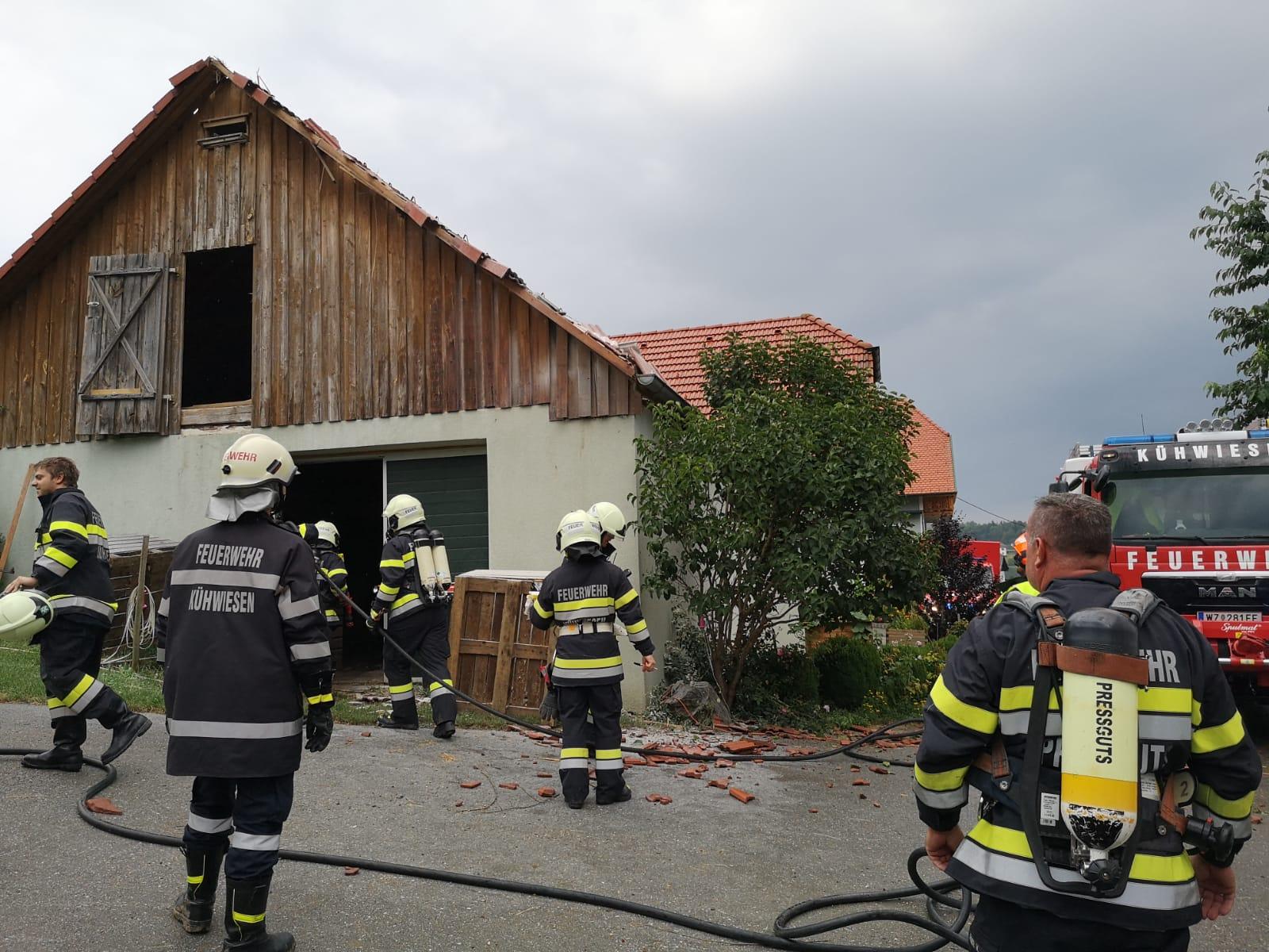 Wirtschaftsgebäudebrand am 3.7.2019