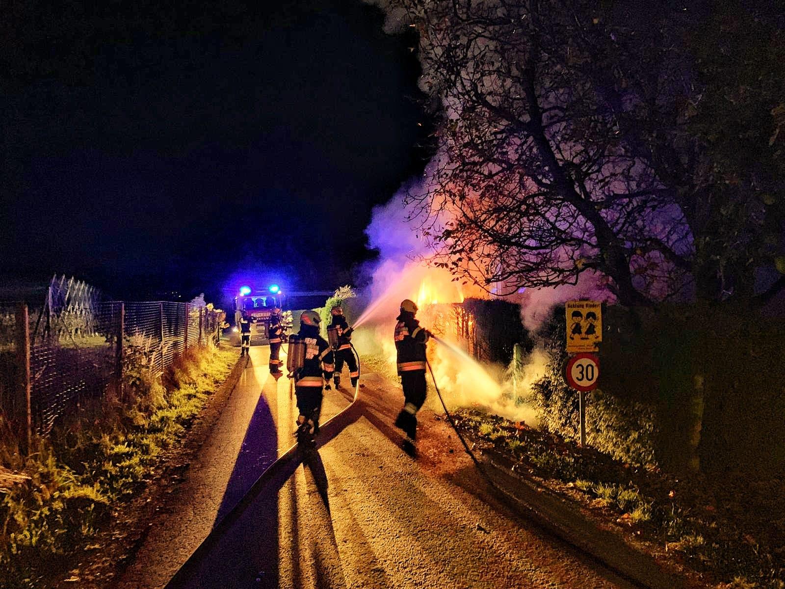 Heckenbrand am 27.10.2019