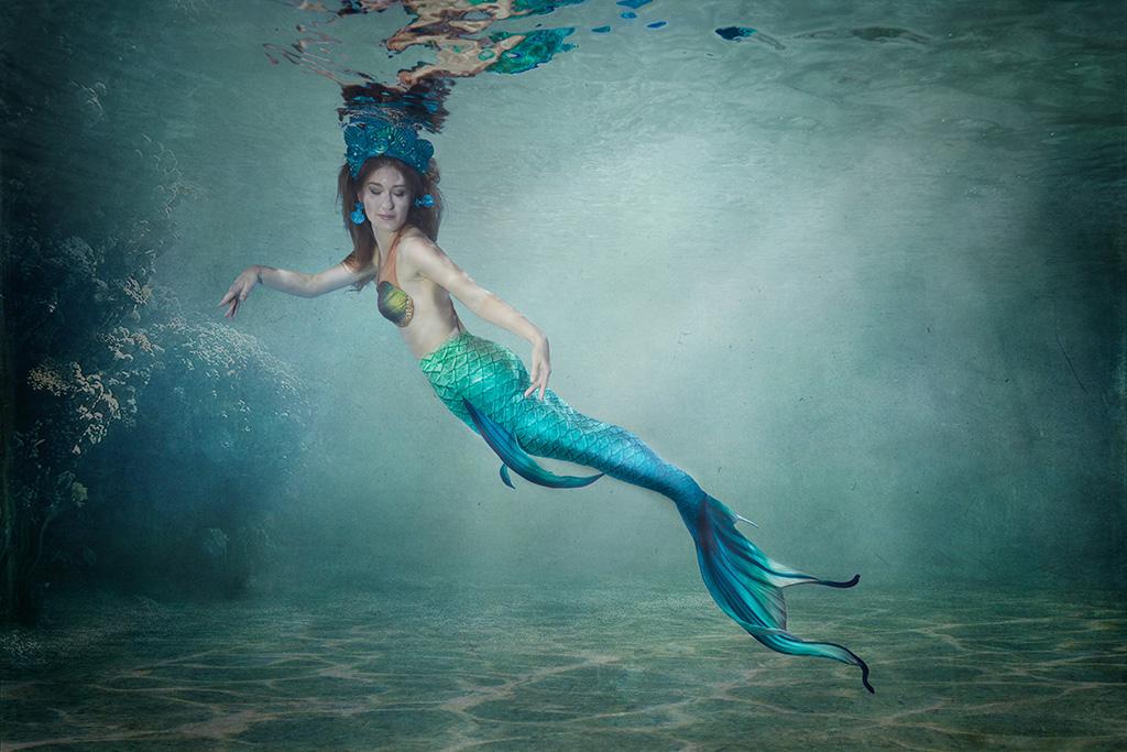 Meerjungfrauen Einzel- und Gruppenshootings, Unterwasserfotografie