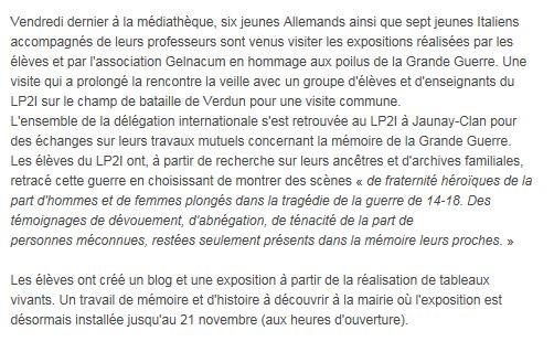 La Nouvelle Republique 11/13/2014