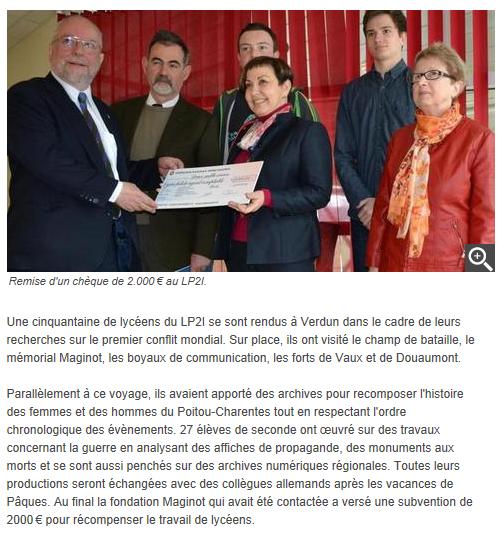 La Nouvelle République  04/11/2014