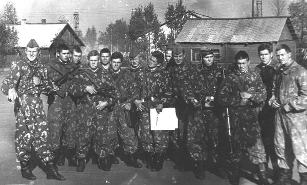 Разведгруппа л-та А.Ленцова на учениях Неман-79 в августе 1979 г.