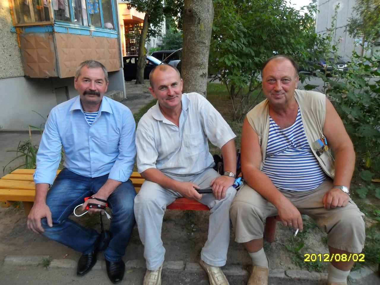 Слева направо: Николай Есаулков, Игорь Гусько, Игорь Нищенко