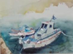 Boote im Hafen von Finiki/Karpathos