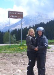 Franz und Ute am Passo di Lavaze/Trentino