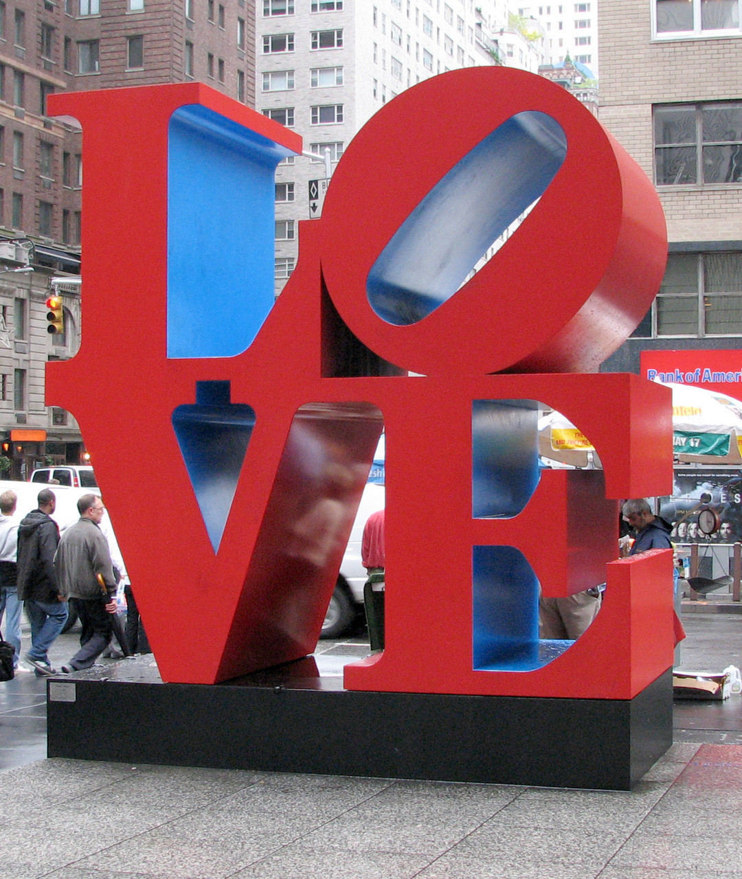 'LOVE' Skulptur von Robert Indiana