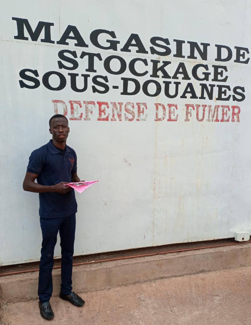 Souleymane am Zoll