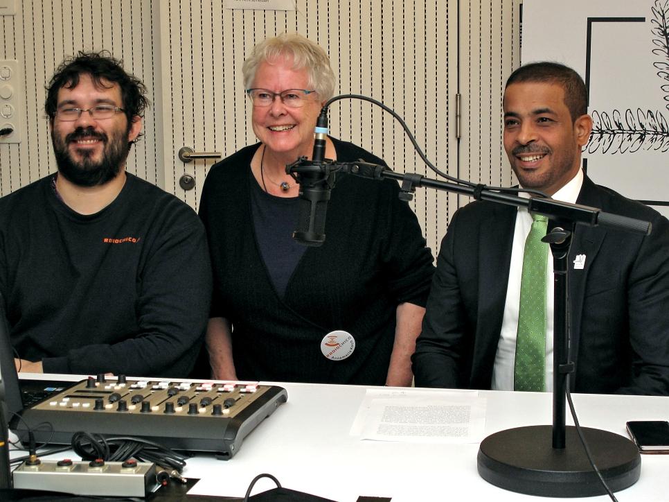Gruppenfoto Ahmed Nasser Alnuaimi - RadioChico Annemarie und ManuelManuel