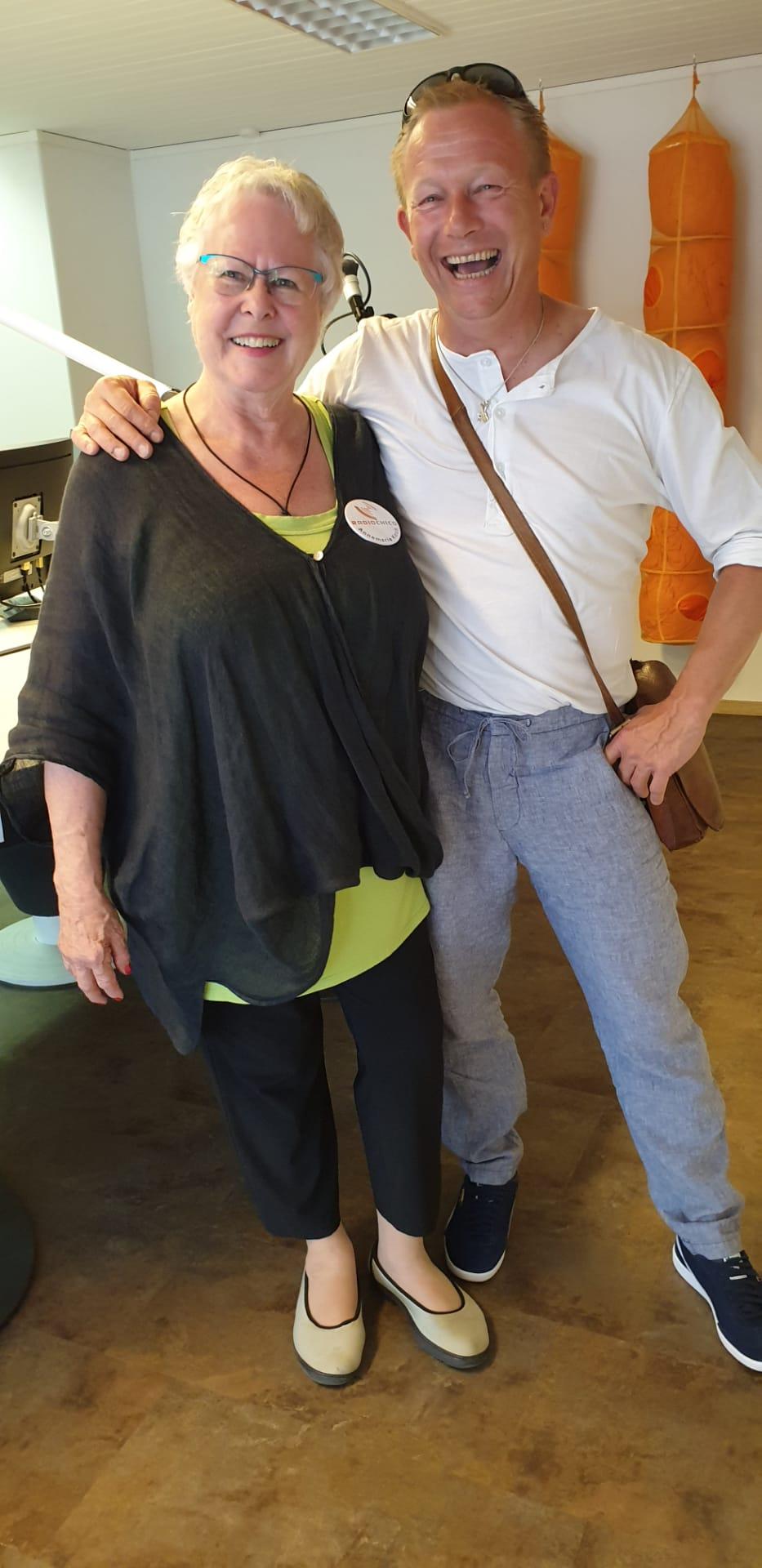 Annemarie Koch mit Patronatsmitglied Henä