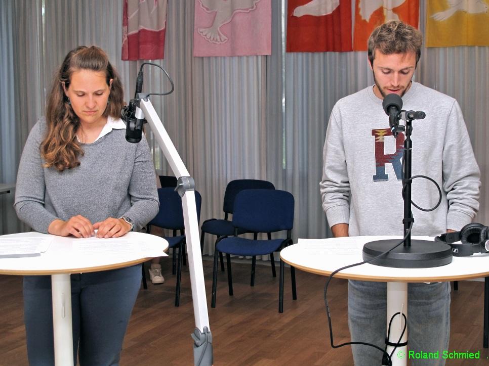 Marianne Berger und Manuel Müller von Peace Brigades International