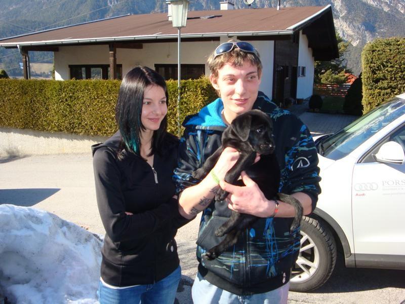 Martina und Alex mit Sammy