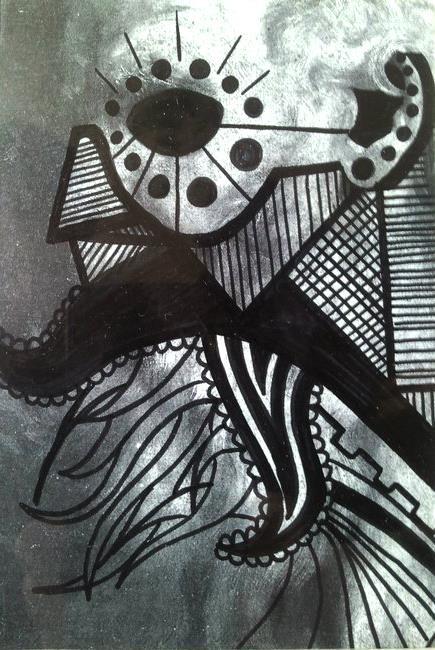 SOCIETY - 8/12cm - encre sur impression - 2011