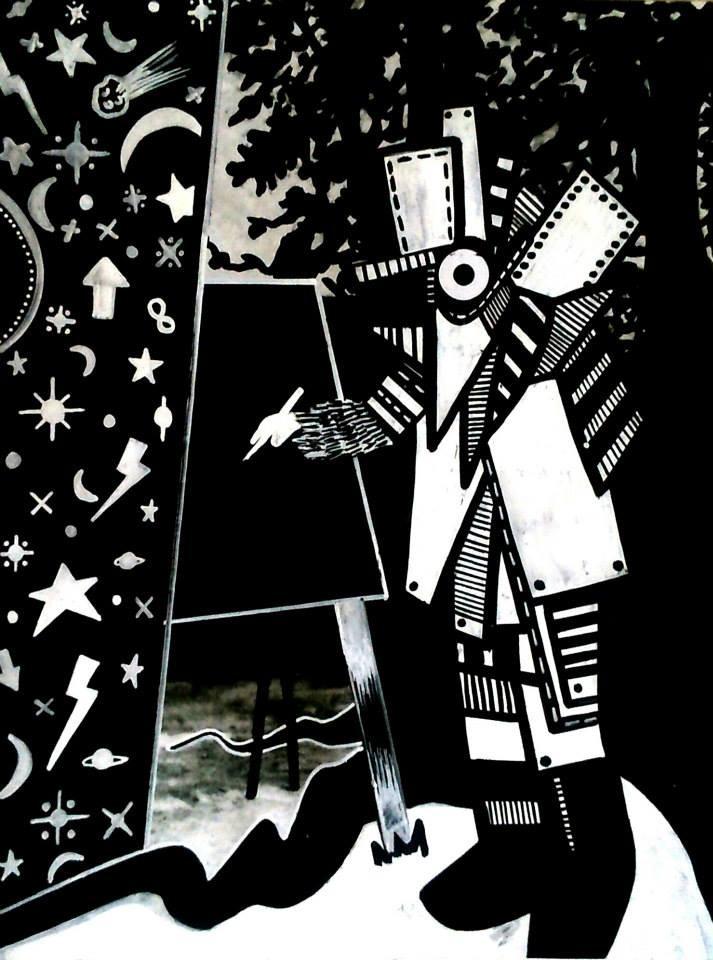 Black Page - 20/27 cm - encre sur impression - 2015