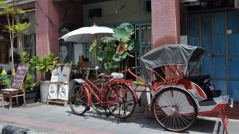 絵になる三輪車