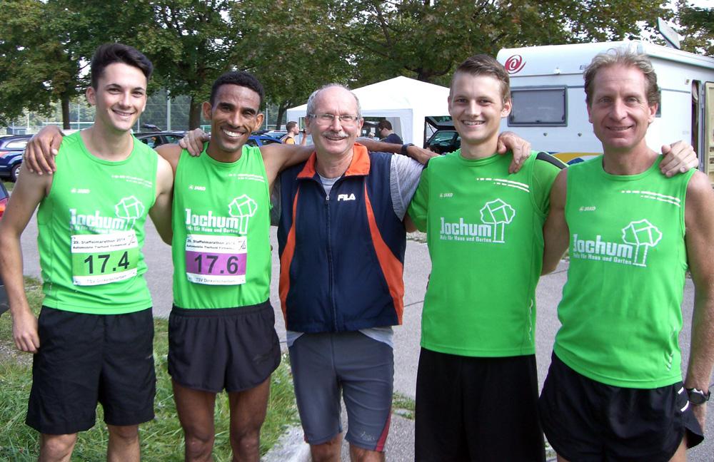 Männerteam beim Staffelmarathon 2014