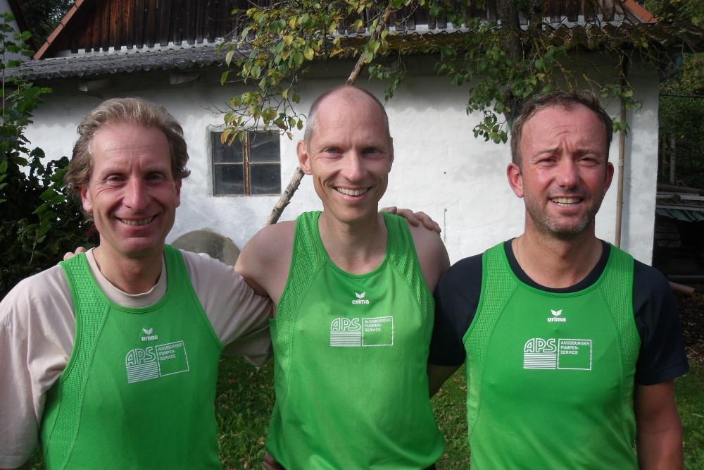 Vereinsmeister Uwe Gerstner, Michael Sandner, Roland Höck 2012