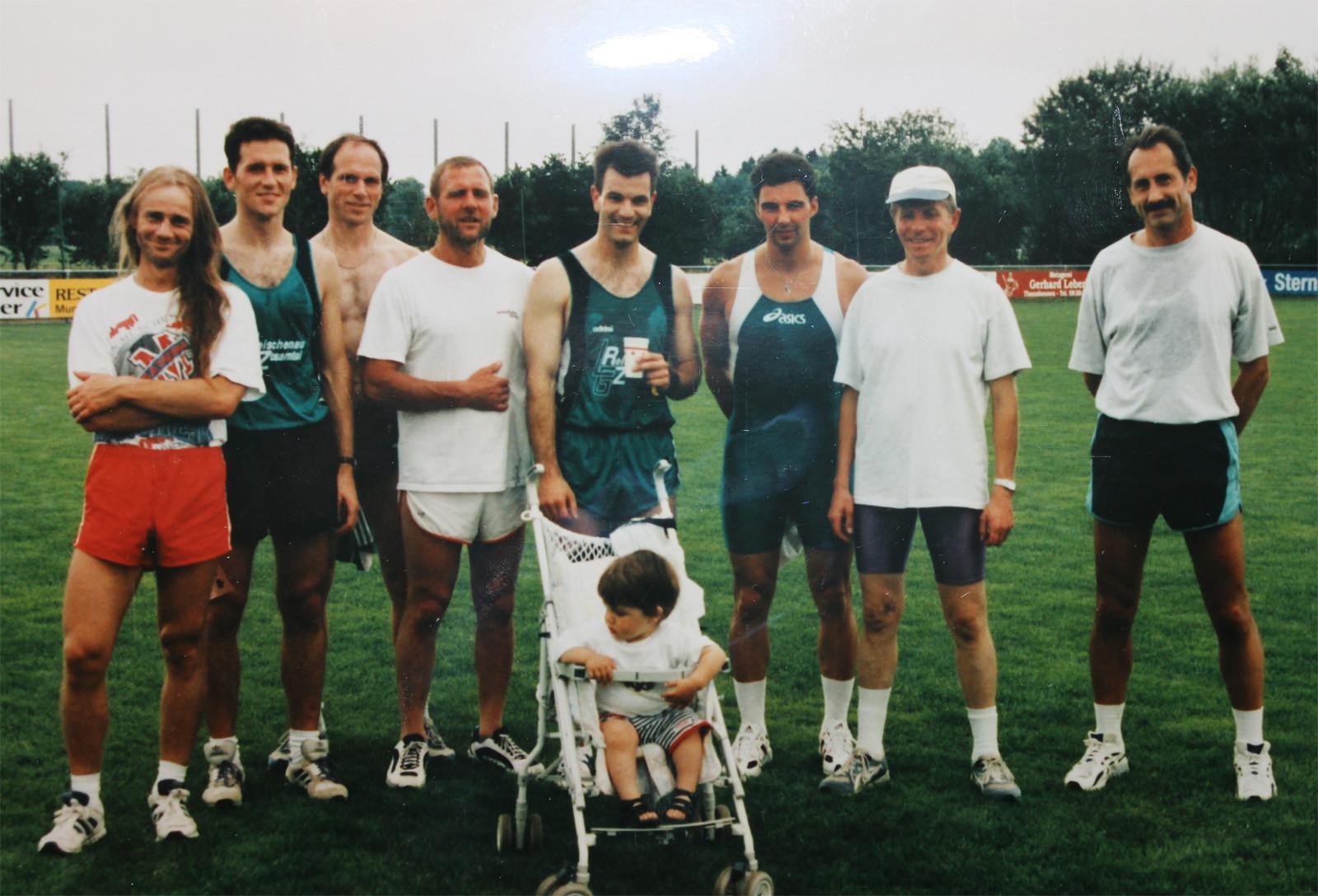 LKL Mindelzell mit Jhonny Fischer, Karl Sendlinger, Benrhard Saumweber, Bernhard Schaller, Reiner Hintschich, Alois Kaiser