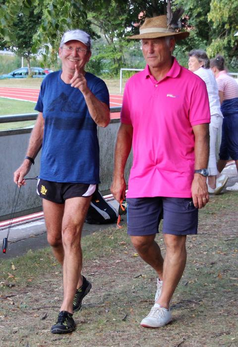 Trainer Franz und Jürgen